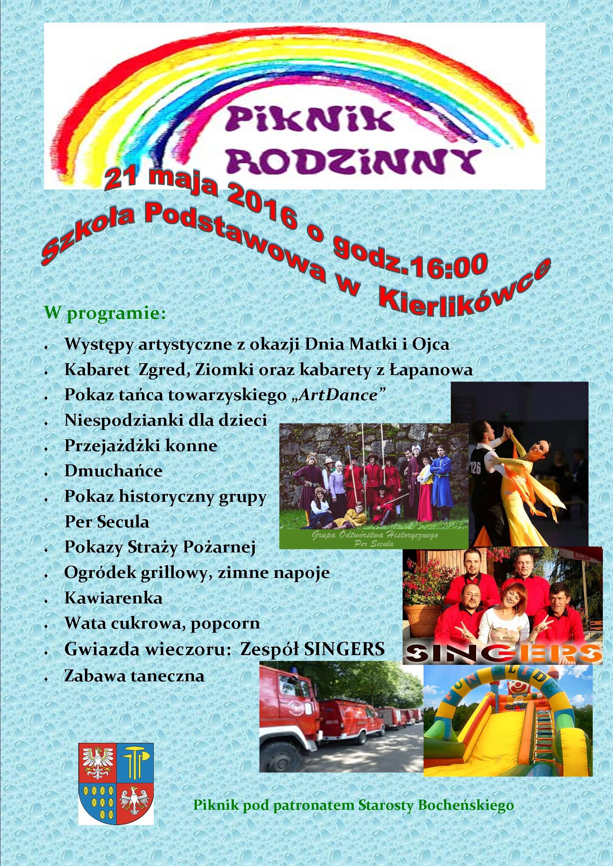 Zaproszenie Na Piknik Rodzinny Publiczna Szkoła Podstawowa W